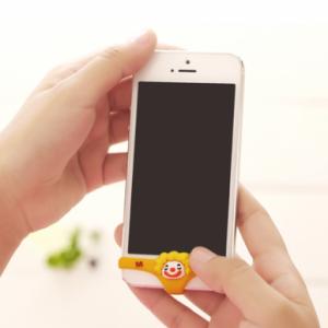 创意硅胶苹果手机立体内裤按键贴(小丑款) 黄色