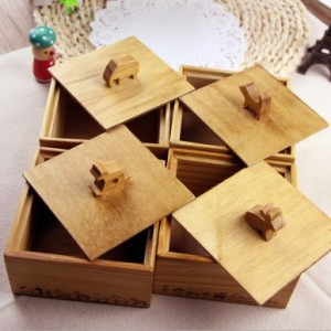 复古ZAKKA风 萌动系列可爱动物木质储物盒 首饰盒 兔子-火车