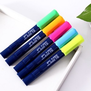 韩国可爱果冻涂鸦笔 彩色荧光笔 记号笔 绿色