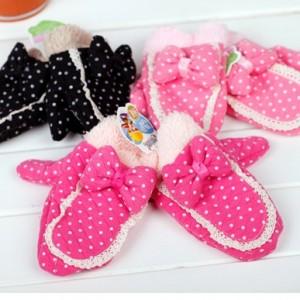 冬季保暖 毛绒加厚手套(儿童款)D06 黑色