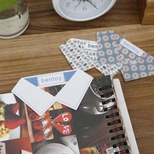 韩版创意文具bentoy花领子书签 衣领领结书签