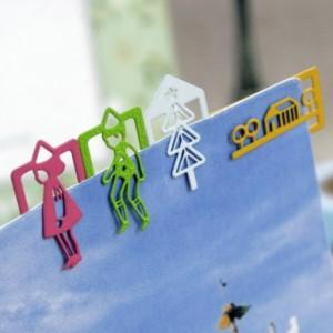 马戏团PET造型书签(12枚入)NJ-009-19 粉色