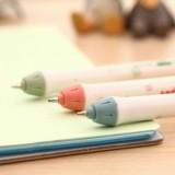 韩国文具大视界清新波点大头黑芯中性笔 水笔 PA-009(12支/盒)单支售 橙色