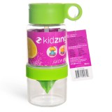 韩国 儿童柠檬手动榨汁能量杯 喝水神器 果汁水杯 透明杯身绿盖