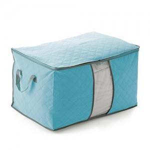 多彩竹炭大号加宽棉被收纳袋 衣物储存整理袋 湖蓝色 200个/箱
