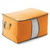 多彩竹炭大号加宽棉被收纳袋 衣物储存整理袋 橘黄色 200个/箱