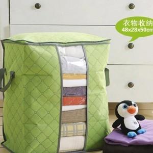 多彩竹炭67L加高衣物收纳袋 整理袋 抗菌收藏袋 绿色 200个/箱