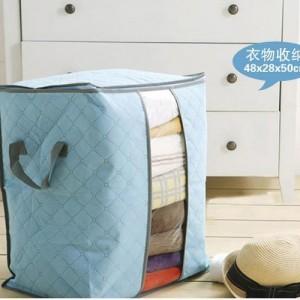 多彩竹炭67L加高衣物收纳袋 整理袋 抗菌收藏袋 天蓝色 200个/箱