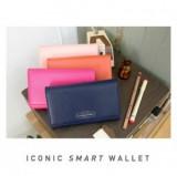 皇冠 iconic   长款多功能拉链钱包 手机包(013) 桔色