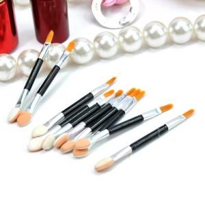 美容工具-双头眼影刷/唇刷(10枚装)