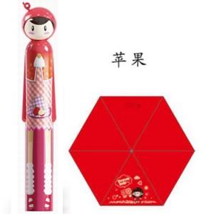 防紫外线 铅笔水果娃娃雨伞(红色)