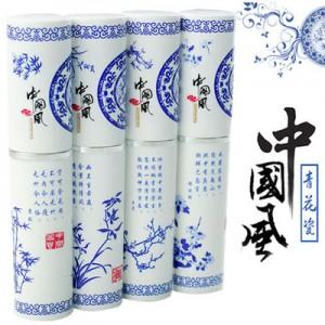 青花瓷不锈钢餐具三件套装-竹子 便携环保叉 勺筷子
