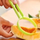 炫彩瓜果省力不伤手去皮器 易清洗水果挖瓤器2件套  黄色