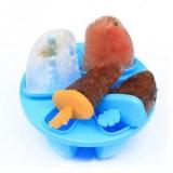 创意圆形制冰盒冰格/雪糕模具/DIY棒冰模具-蓝色