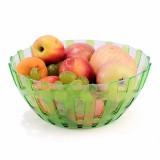 双层镂空多用果盘 糖果盒--绿色(811)