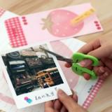 带护套儿童手工剪纸刀 学生办公剪刀-青蛙造型 NO.6031