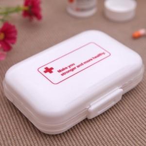 创意可折叠定量分装旅行便携8格药盒
