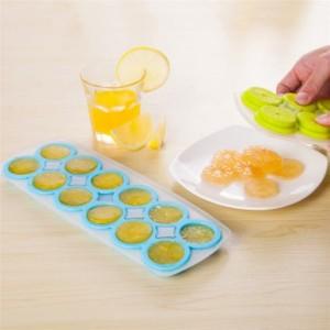 创意DIY柠檬造型冰格 12格冰块模具 冰模 制冰盒 JY032 红