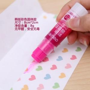韩版学生文具小清新彩色固体胶 无甲醛环保胶棒 NO.7119