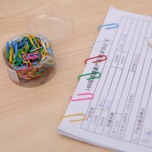 韩国文具办公学生多彩回形针 区别针 160入盒装 NO.0038