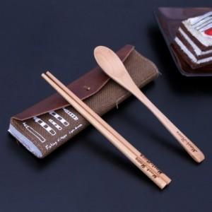 海风假日系列餐具包 便携带式餐具套装(筷子+勺子)MH13-282 蓝色