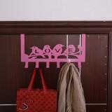 彩色铁艺免钉门后挂钩 6连门背挂架 BXX-8001 粉色房车