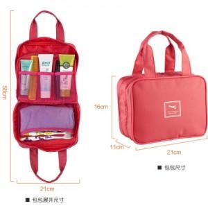时尚手提防水洗漱包 洗漱袋旅行收纳包 西瓜红