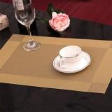 PVC餐垫 隔热垫 相框 对角2色方格 金色对角 300个/箱
