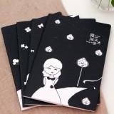 韩国文具 微笑天使16K缝线本 车线本 记事本 LB16K21-0486