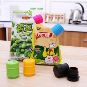 创意瓶盖式密封出料嘴 封口夹封口瓶盖 出料口 绿色