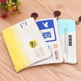创意韩国文具吊牌系列A5网格袋 文件袋 MH13-945 天蓝色