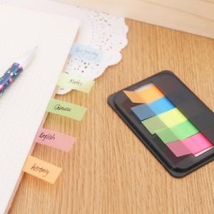 韩国文具 创意荧光分类索引贴 活页标签贴 N次贴 便利贴 5条