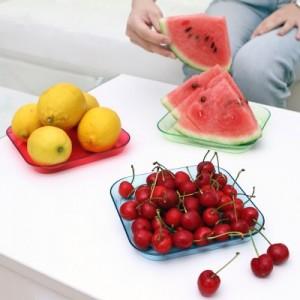 炫彩水晶透明多用小果盘 托盘 糖果水果盘(单个装) 透明红