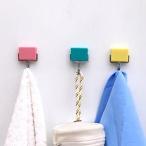 超强吸力无痕强磁性挂钩 冰箱磁铁挂钩 黄色