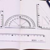 高级办公绘图工具套尺4件套 三角尺 直尺 量角器 HARL0133