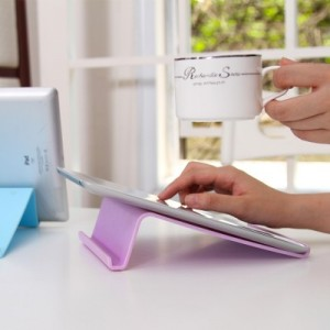 时尚炫彩通用数码支架 懒人平板电脑iPad支架 蓝色