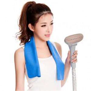 日韩热卖夏季降温消暑冰爽毛巾 运动健身吸汗冰巾(小号) 蓝色