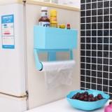 多功能保鲜膜收纳盒 冰箱置物架 厨房纸巾架 绿色
