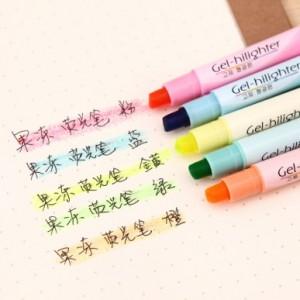 韩国文具进口固体荧光笔 果冻笔 PA-806(单支售) 黄色