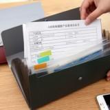 创意13位时尚多功能文件夹 风琴包 票据包 NO.5562 酒红