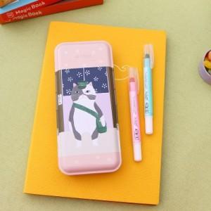 猫的物语大号文具盒 马口铁笔盒 文具收纳盒 MH14-970 跳舞白猫