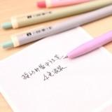 韩国文具Ustylc学生按动黑芯中性笔 DS-028(单支售) 墨绿色