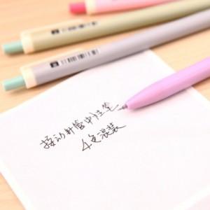 韩国文具Ustylc学生按动黑芯中性笔 DS-028(单支售) 粉色