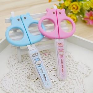 带护套儿童手工剪纸刀 学生安全剪刀-大嘴河马造型 NO.6032