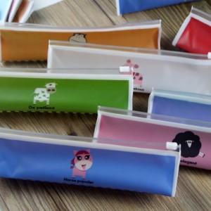 创意文具十二生肖笔袋 动物PVC学生笔袋 QL-1101 小牛