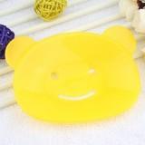 韩版小熊香皂盒/肥皂盒-黄色
