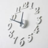 diy静音钟表创意数字挂钟(白色)