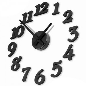 时尚简约闹钟DIY设计趣味时钟/创意艺术钟表/数字挂钟