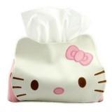 可爱猫皮质纸巾抽