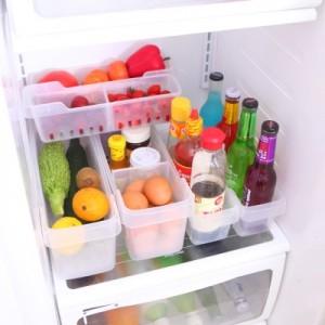 透明长方形多功能冰箱收纳盒 冰箱保鲜盒(小号)